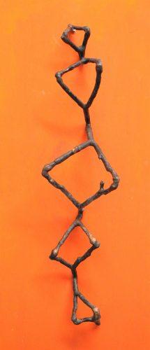 Rückhalt (Kastanienzweige in Bronze)