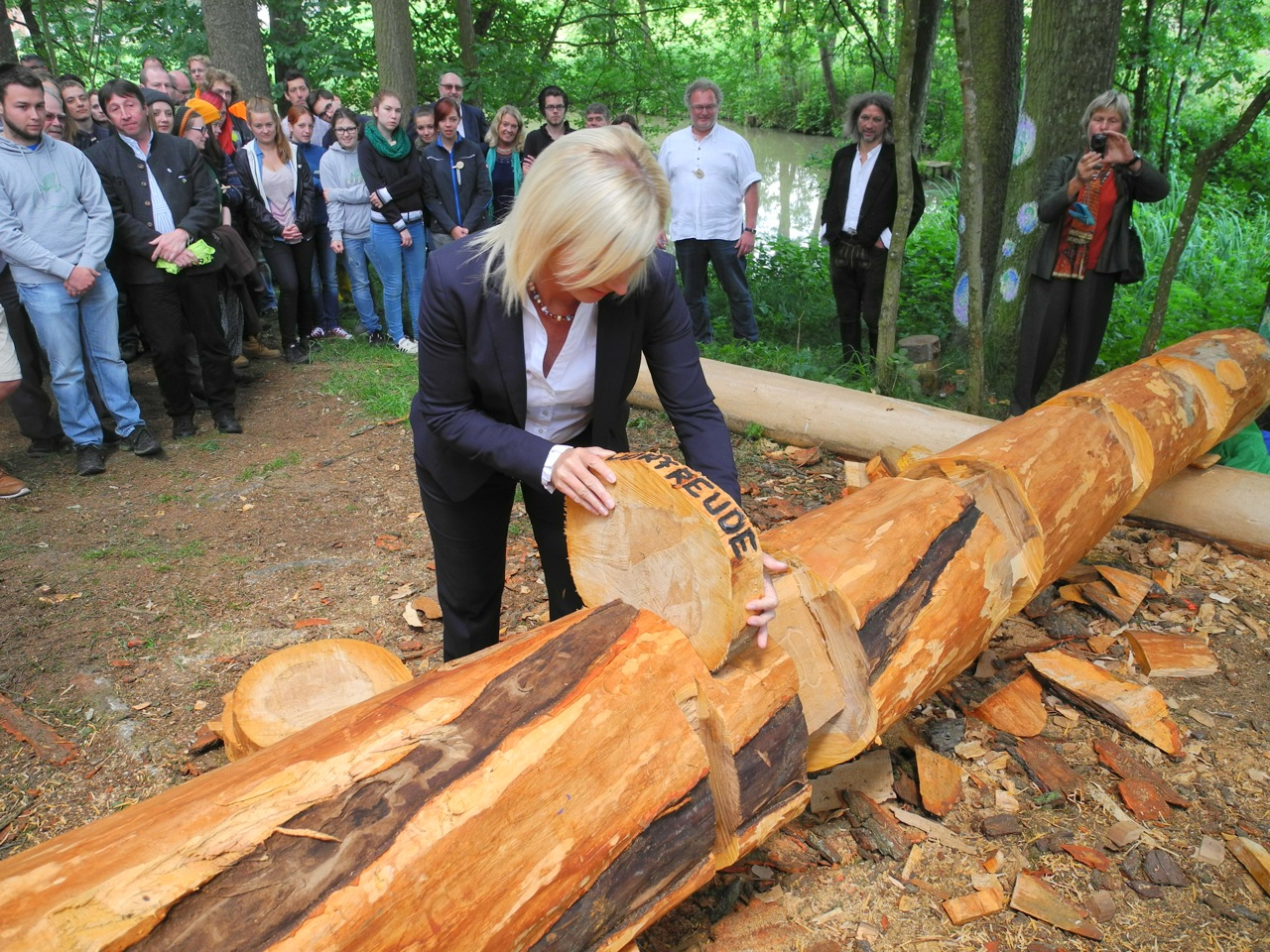 Damalige Umweltministerin Scharf bei 20 Jahre FÖJ
