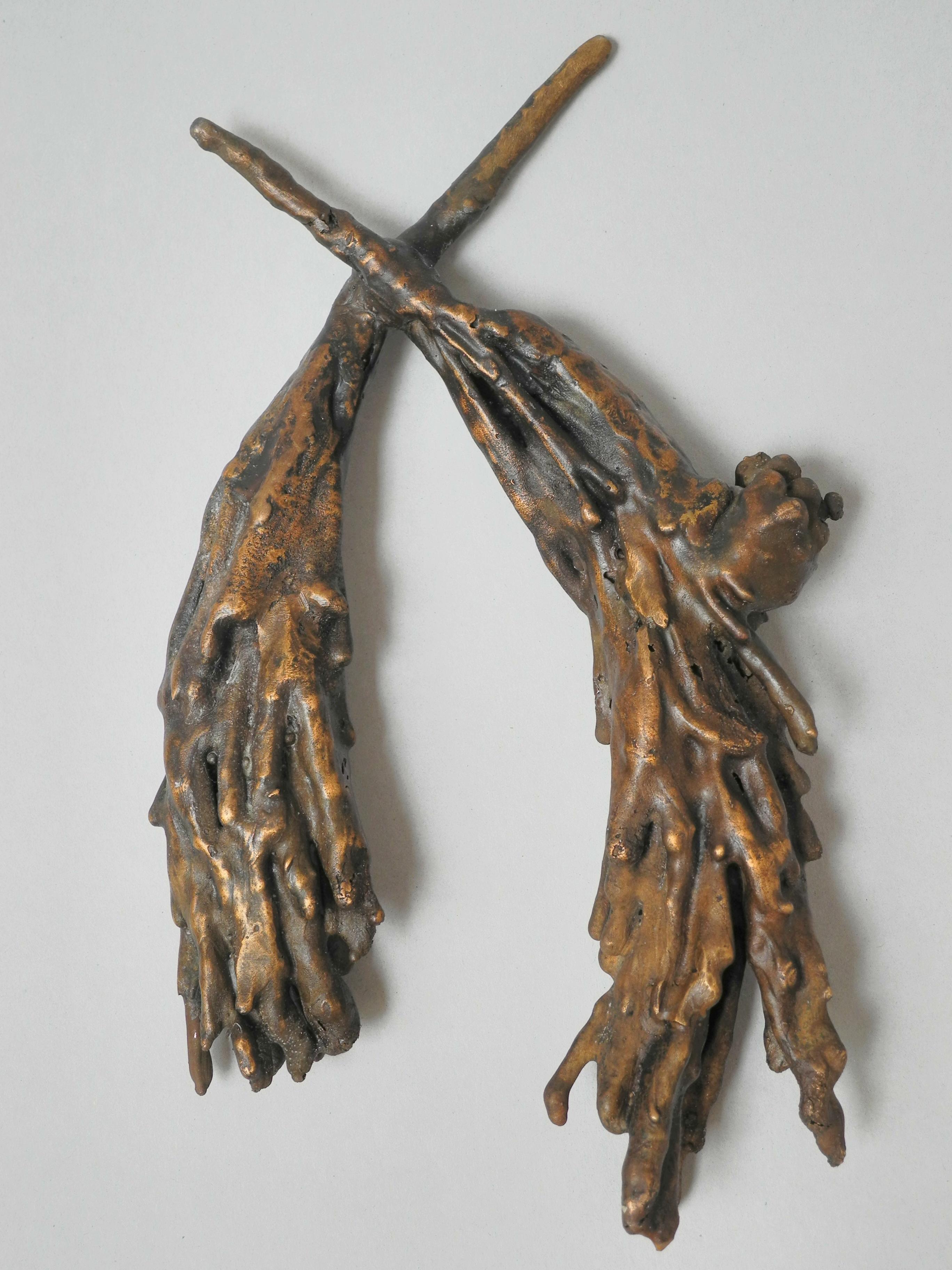 Kiefernpaar (Kiefernzweige in Bronze)