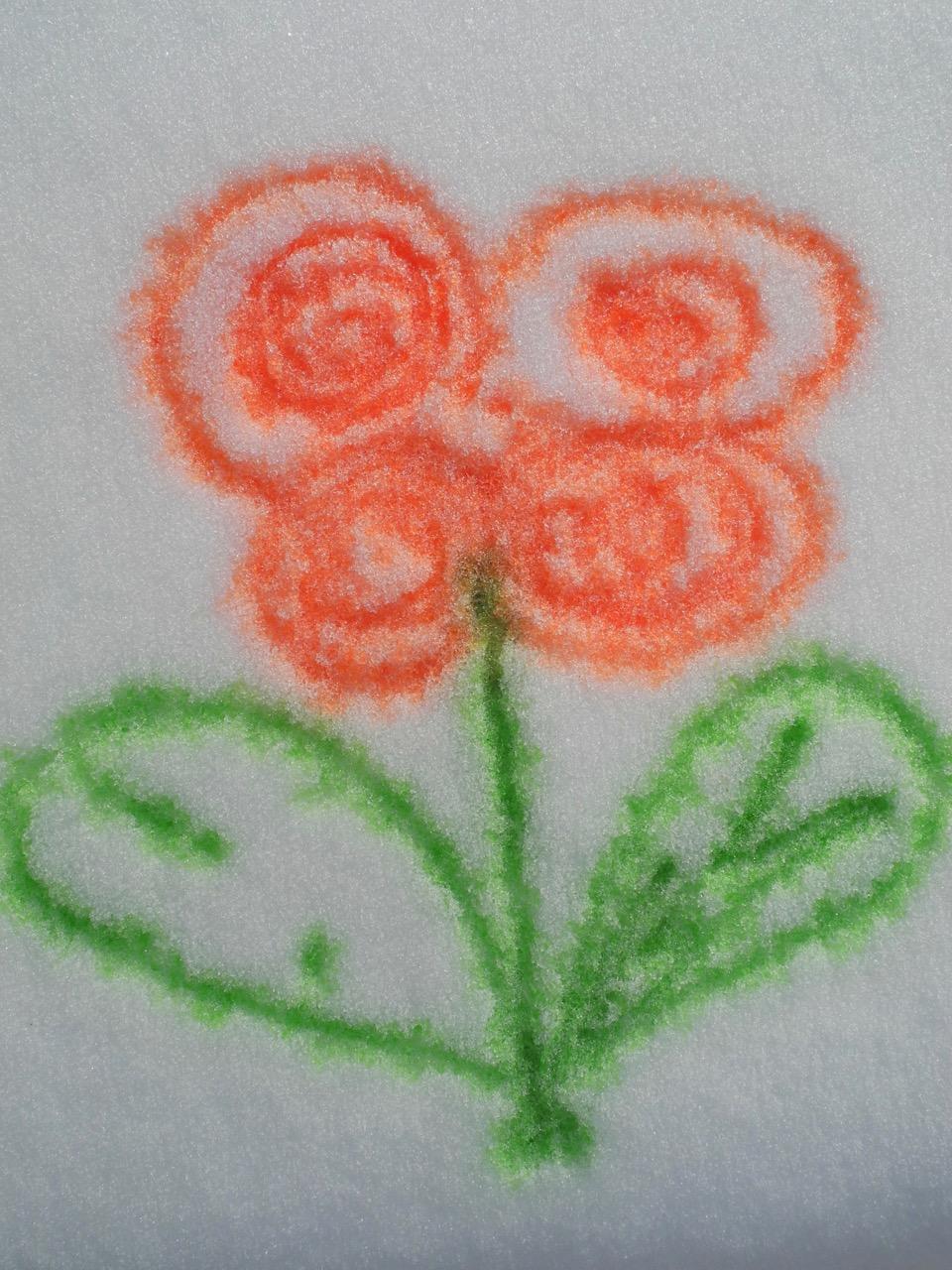 Experiment Farbe in Schnee (Weiterbildung Kulturpädagogik)